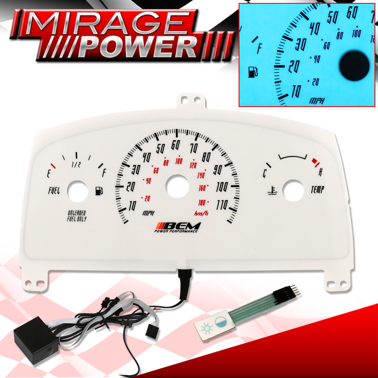 hight resolution of details about 1995 1999 chevy cavalier white dash cluster indiglo gauge mt temp fuel racing