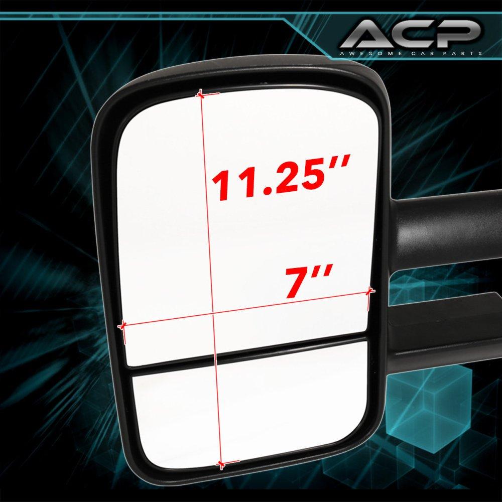 medium resolution of pair black manual extend towing mirrors 1999 2006 chevy silverado gmc sierra