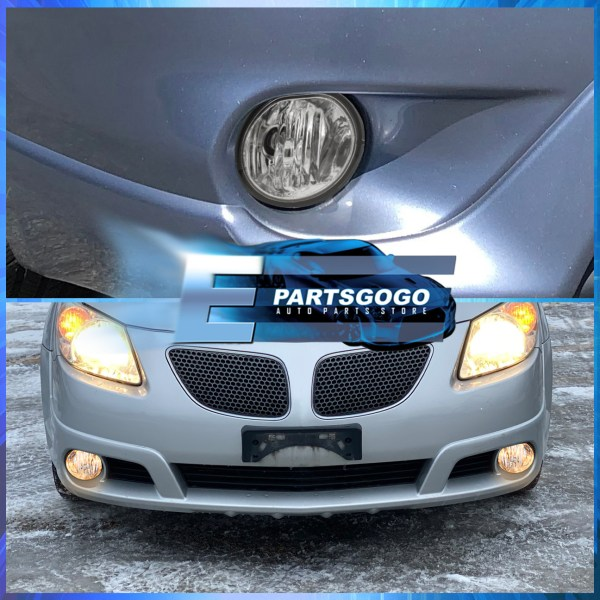 Chrome Clear Bumper Driving Fog Light Lamp Replacement