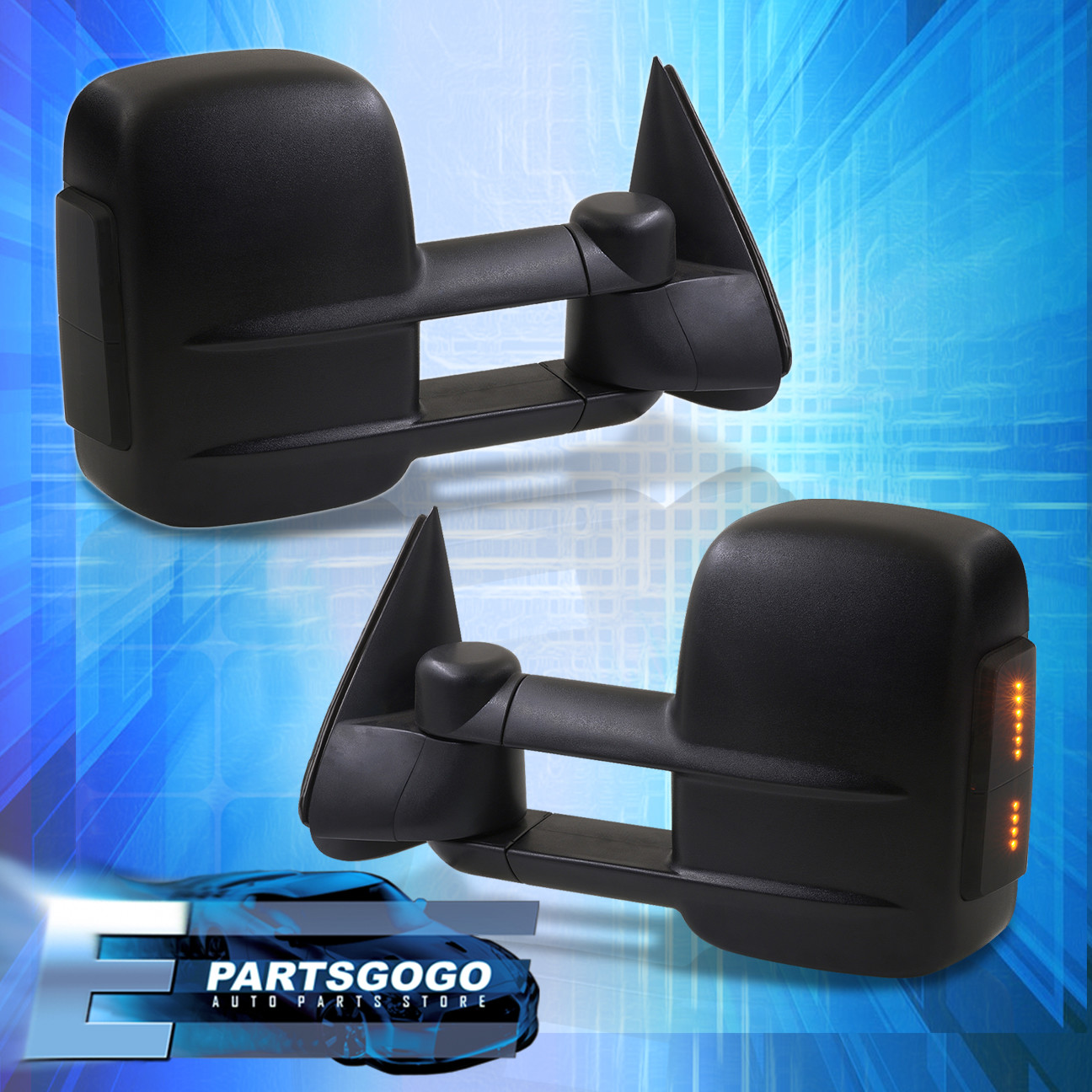 hight resolution of details about 2003 2006 silverado 1500 2500hd 3500 extendable manual amber led mirrors