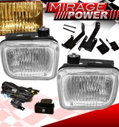 1996 1998 civic hatchback coupe clear lens fog light wiring switch harness jdm [ 1296 x 1296 Pixel ]