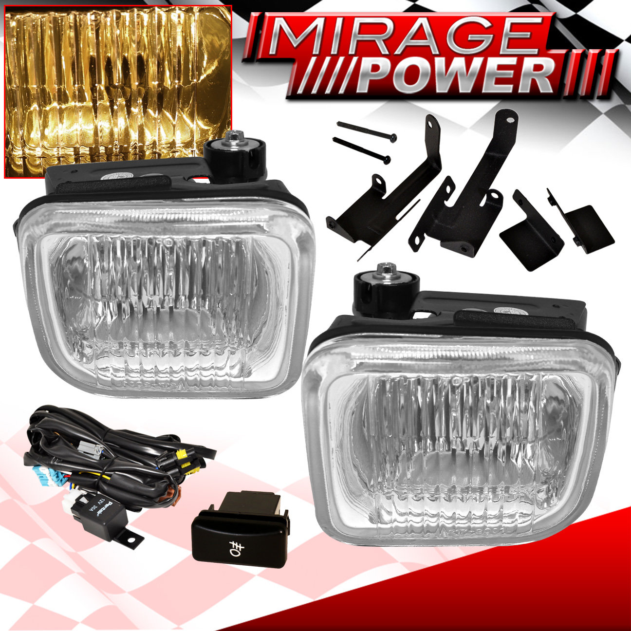 hight resolution of 1996 1998 civic hatchback coupe clear lens fog light wiring switch harness jdm