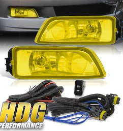 details about for 2004 2008 acura tl 2003 2007 honda accord yellow fog lights w wiring kit [ 1296 x 1296 Pixel ]