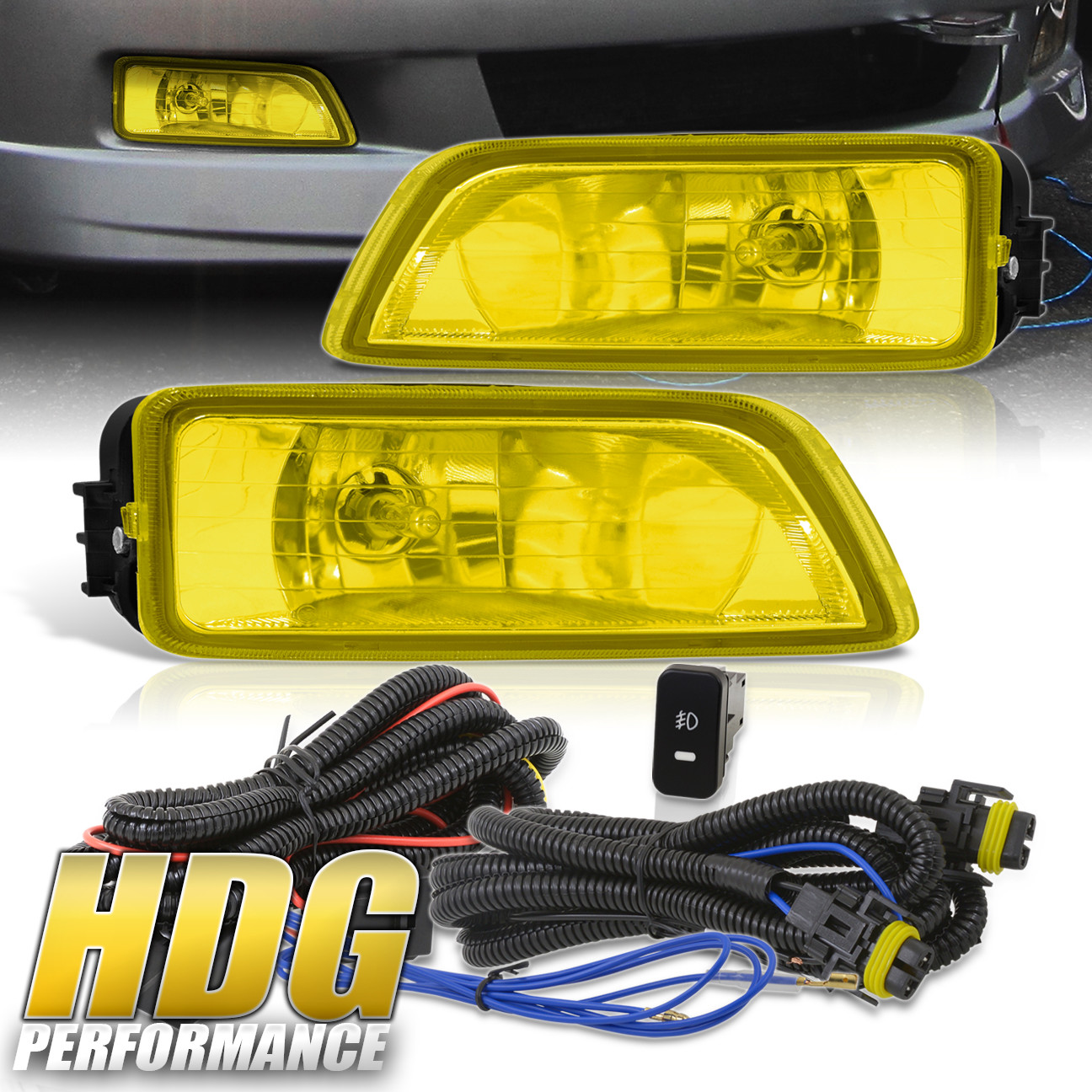 hight resolution of details about for 2004 2008 acura tl 2003 2007 honda accord yellow fog lights w wiring kit
