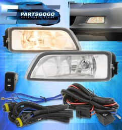 for 2003 2007 honda accord 2004 2008 acura tl clear lens fog fog light wiring harness as well 2010 honda accord v6 engine also 2003 [ 1296 x 1296 Pixel ]