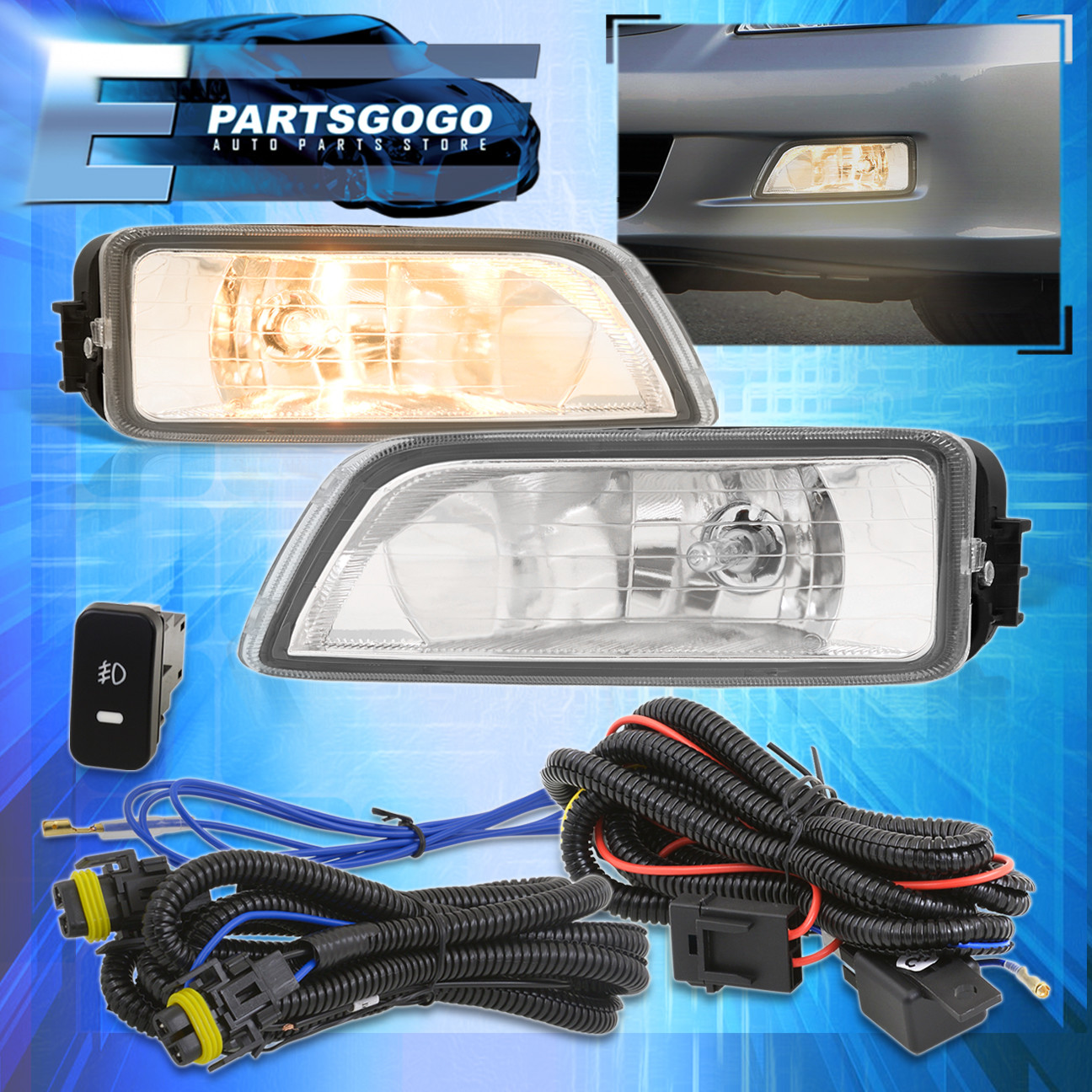 hight resolution of for 2003 2007 honda accord 2004 2008 acura tl clear lens fog fog light wiring harness as well 2010 honda accord v6 engine also 2003