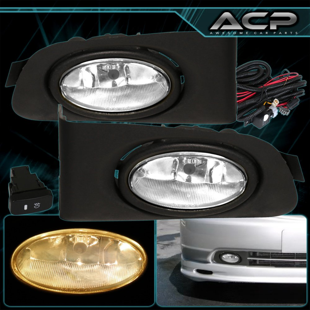 medium resolution of 01 03 civic 98 00 accord jdm 2 4 dr em cg fog lights lamps clear wiring harness