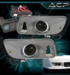92 95 honda civic smoked lens front bumper driving fog light lamps wiring kit [ 1296 x 1296 Pixel ]