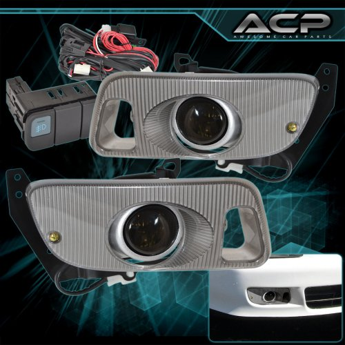 small resolution of 92 95 honda civic smoked lens front bumper driving fog light lamps wiring kit