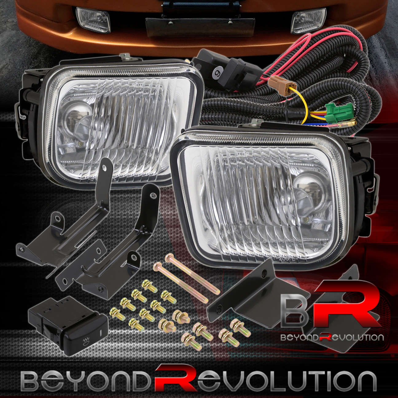 Honda Civic Lx Dx Ex Clear Lens Glass Fog Lights W Wiring Harness 96