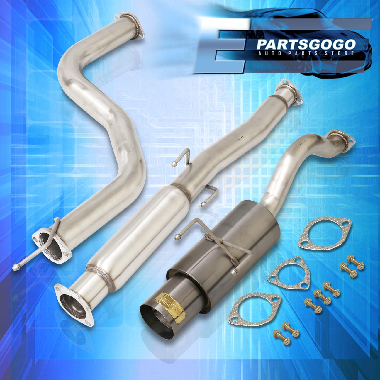 details about for 96 00 honda civic ek 3dr 3 hatchback gunmetal style catback exhaust system