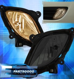 details about for 2010 2012 genesis coupe 2dr kdm bumper driving fog lights w wiring smoked [ 1296 x 1296 Pixel ]