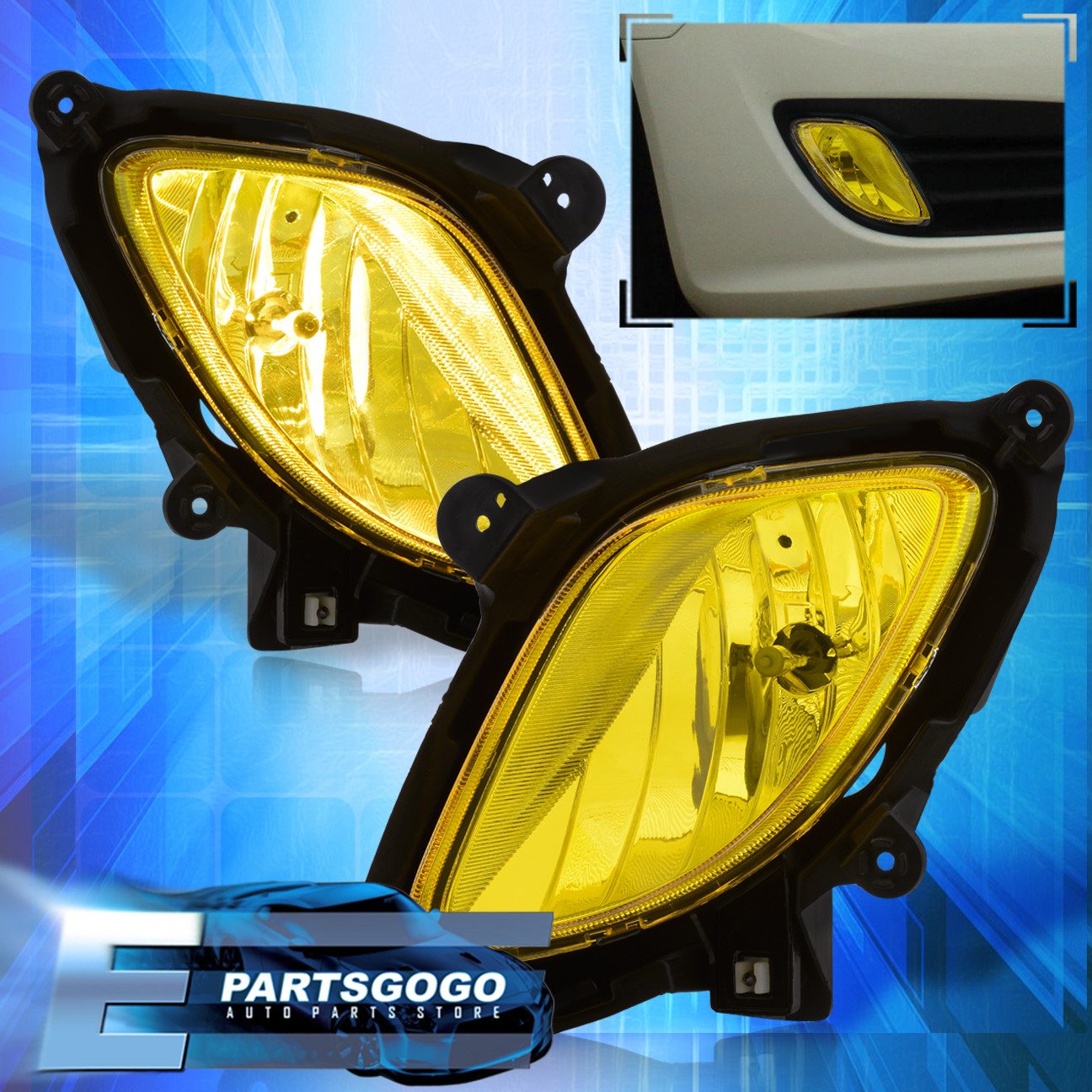 hight resolution of details about for 10 12 hyundai genesis coupe kdm bumper driving fog lights harness yellow