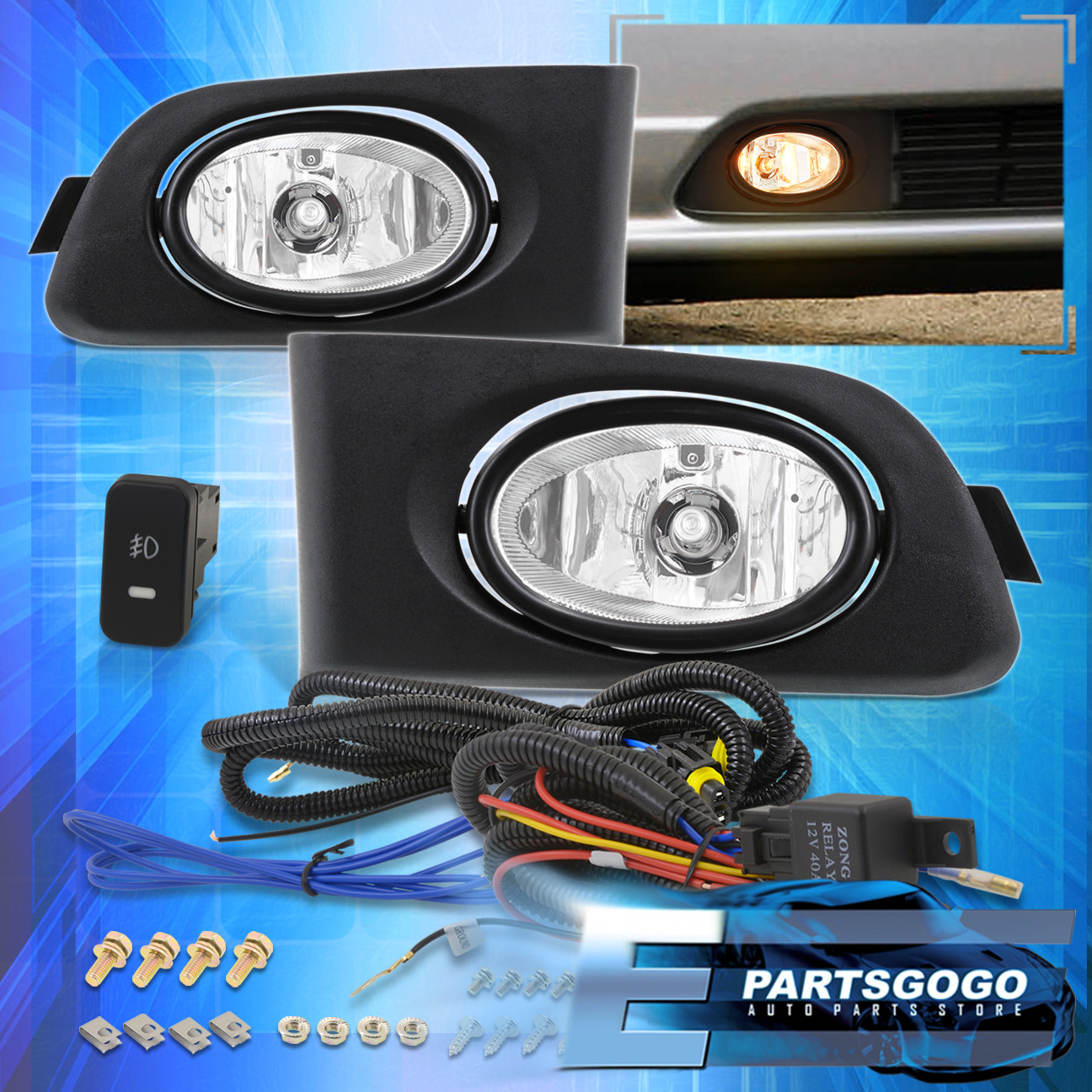 hight resolution of details about 2001 2003 civic 1998 2000 accord ex lx oem upgrade clear lens fog lights lamp