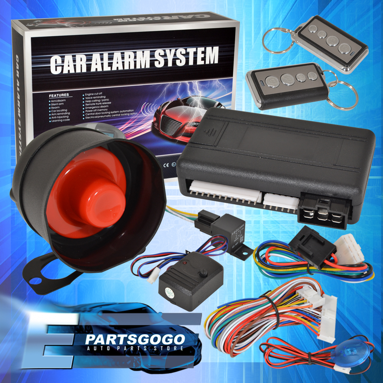hight resolution of details about jdm remote starter engine start car alarm system with siren acura integra rsx