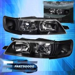 R33 Skyline Headlight Wiring Diagram 2007 Pontiac G6 For 95 99 Maxima Jdm Crystal Black R34 Headlights With