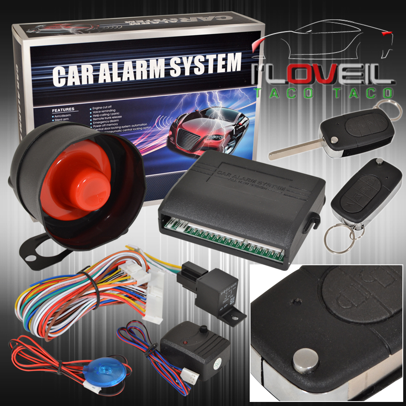 hight resolution of details about jdm car alarm security system remote transmitters with flip keys for toyota
