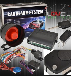 jdm car alarm security system remote transmitters with flip keys for all honda [ 1296 x 1296 Pixel ]