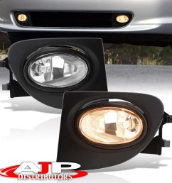 details about 02 05 civic ep3 hatchback si clear front driving fog lights lamp wiring harness [ 1296 x 1296 Pixel ]