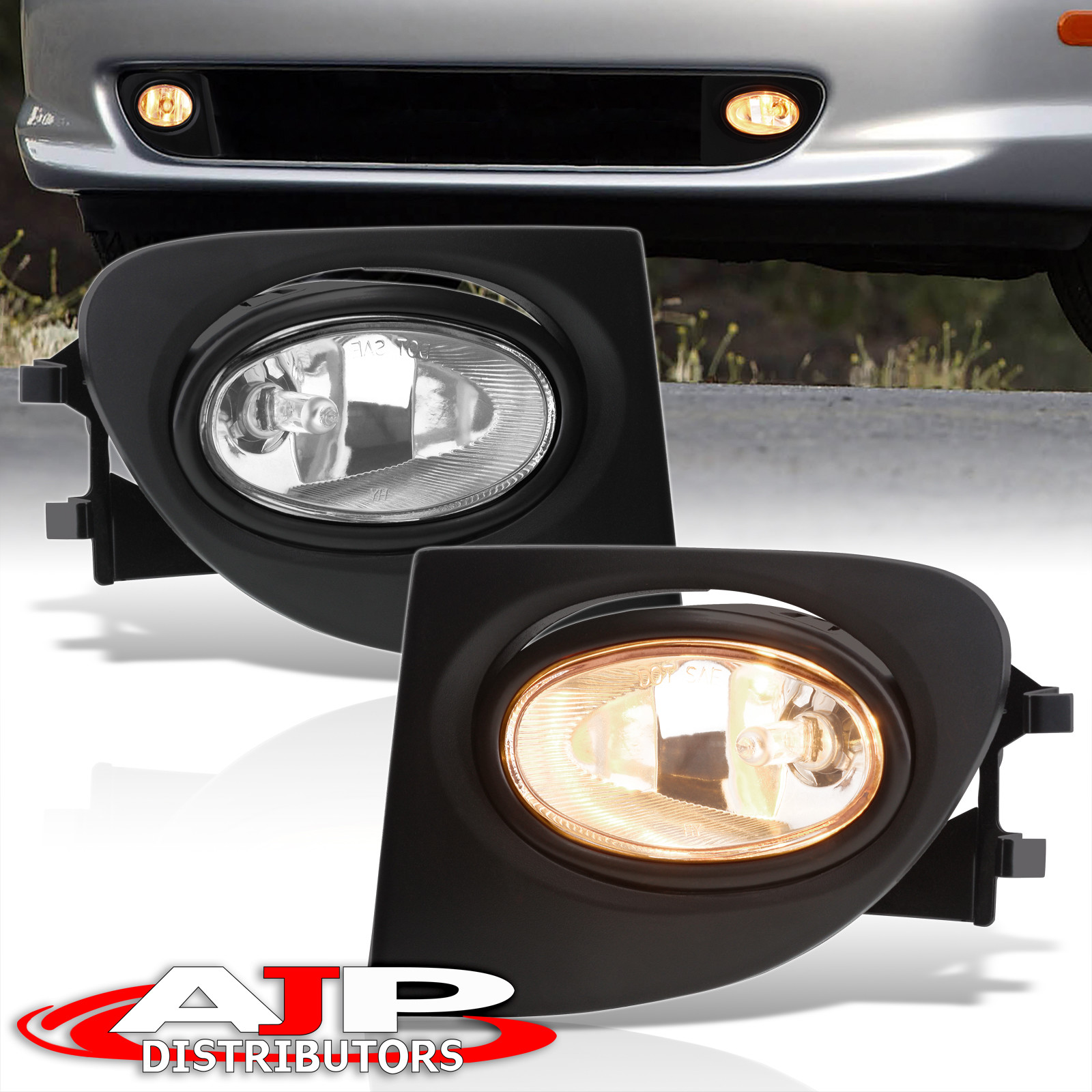 hight resolution of details about 02 05 civic ep3 hatchback si clear front driving fog lights lamp wiring harness