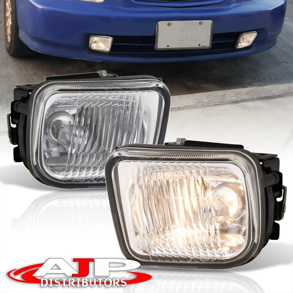 medium resolution of honda civic lx dx ex clear lens glass fog lights w wiring harness 96 97 98 ek