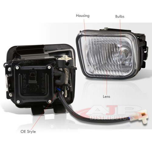 small resolution of honda civic lx dx ex clear lens glass fog lights w wiring harness 96 97 98 ek