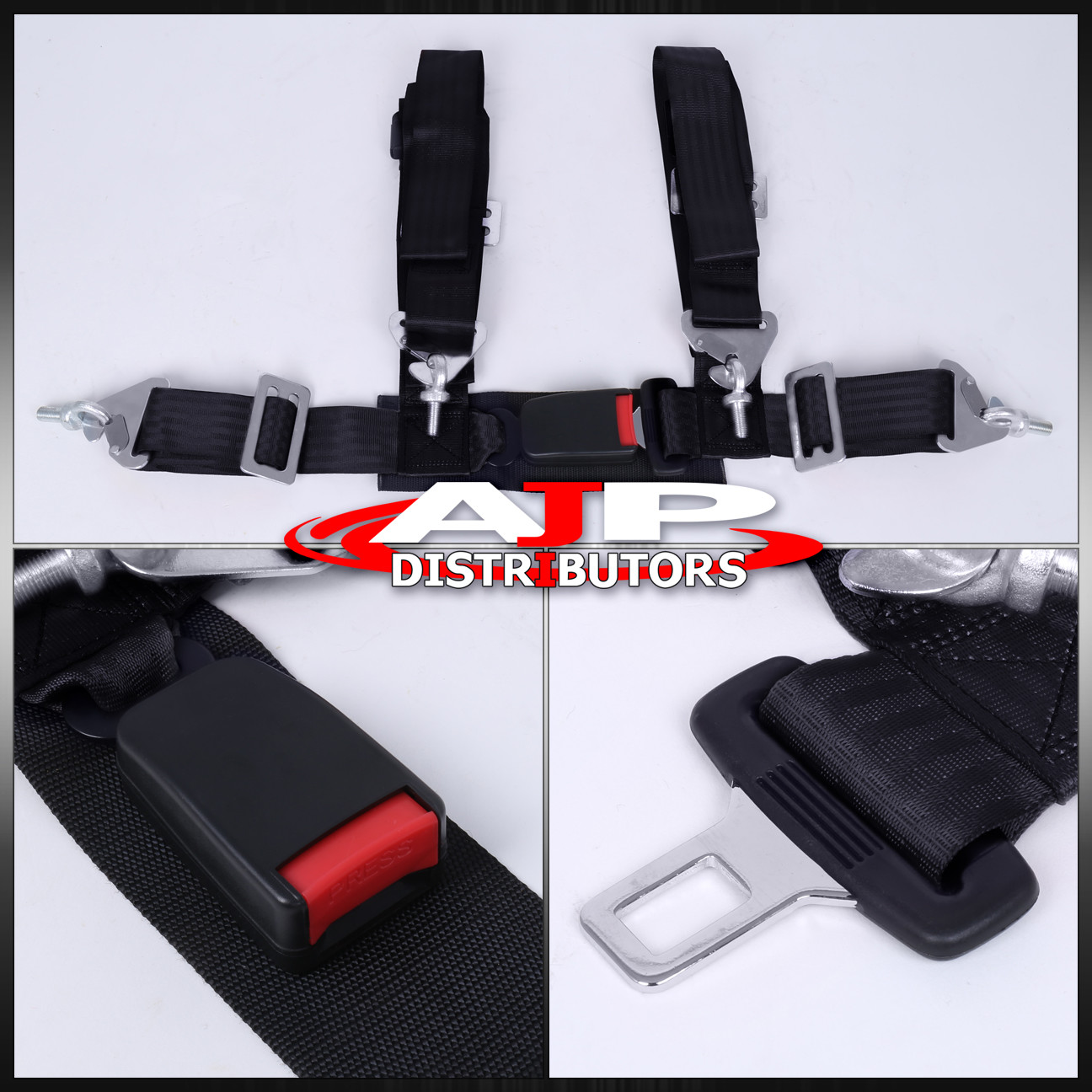 hight resolution of pair of 4 point harness racing seat belts black honda civic del sol crx