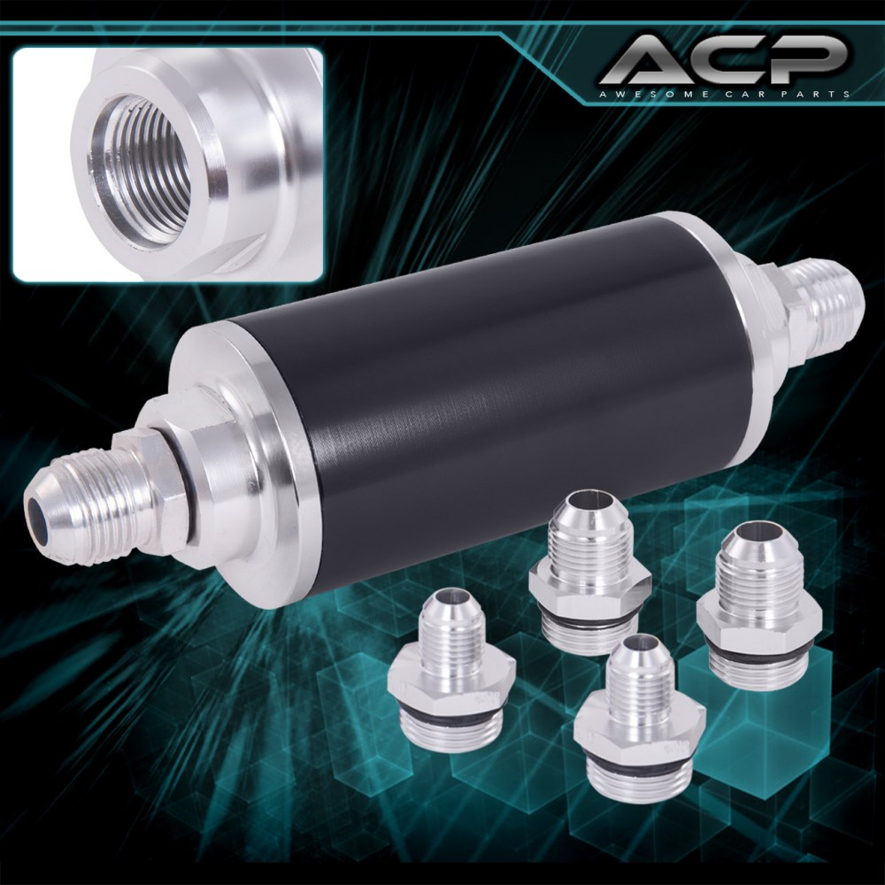 medium resolution of details about universal high pressure performance fuel filter aluminum can tank fitting black