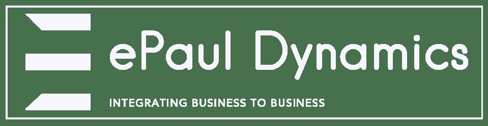 ePaul Dynamics logo white with box