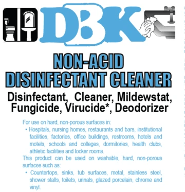 :3DBK NON-ACID DISINFECTANT CLEANER