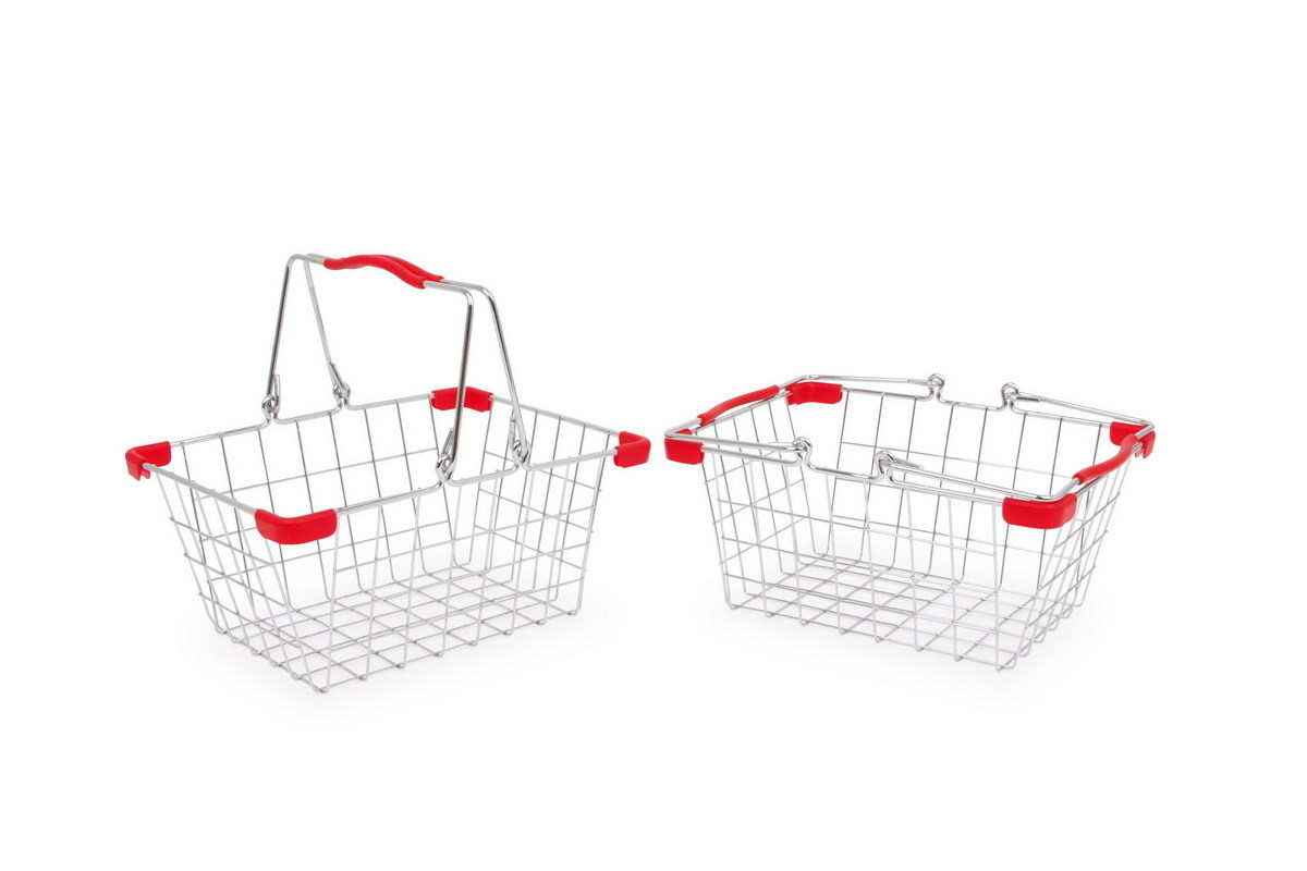 2 x Authentic Metal Mesh Toy Shopping Or Bike Basket From