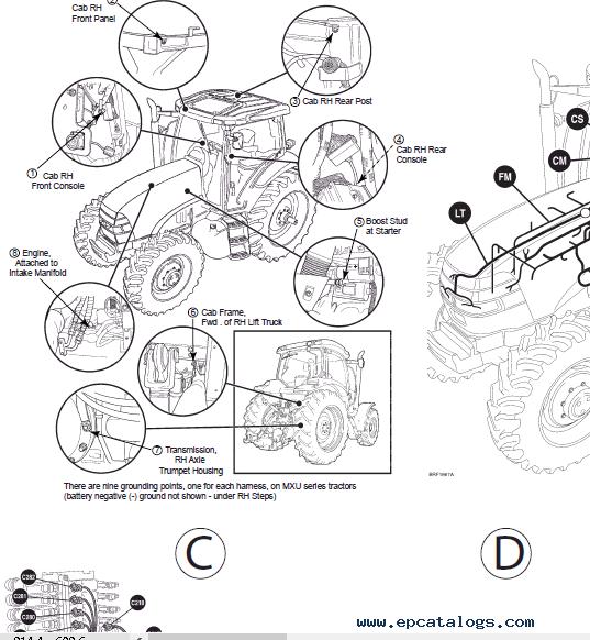 Case Tractors MXU and MAXXUM Series PDF Repair Manual
