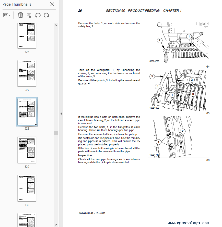 New Holland BR740A and BR750A Round Baler Repair Manual PDF