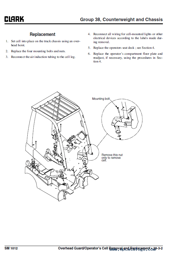 Clark Forklift C20/25/30/35 D PDF Service Manual Download
