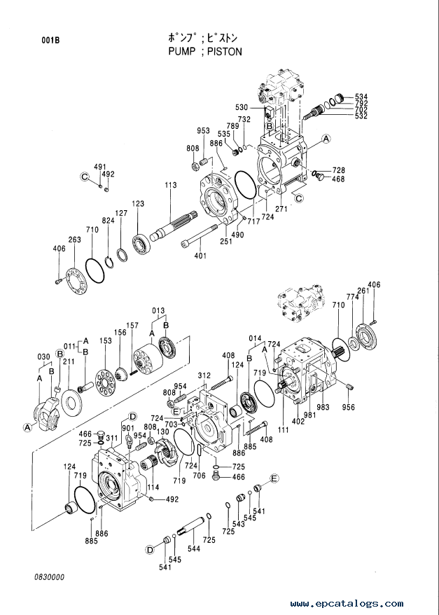 Hitachi EX1900-5 Equipment Components Part P18C-E1-1 PDF