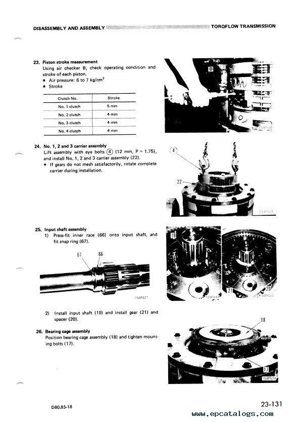 Komatsu Bulldozers D80A,E,P-18 & D85A,E,P-18 Download