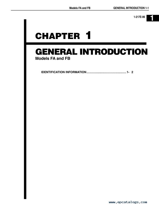 Hino Trucks FA and FB series 2003 Workshop Manual PDF Download