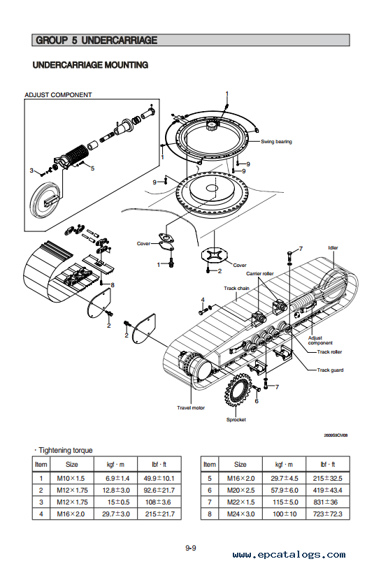 Hyundai R260LC-9S Crawler Excavator Service Manual Download