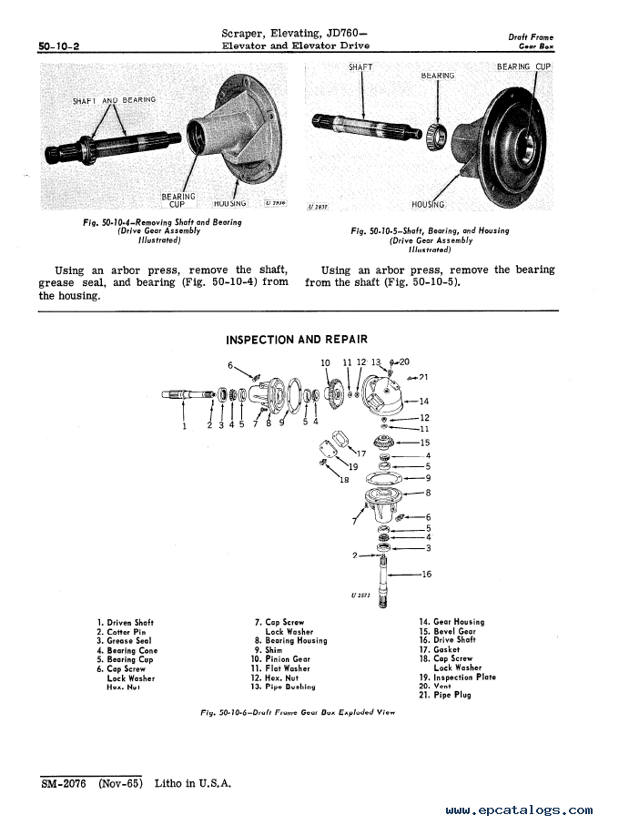 John Deere JD760 Elevating Scraper Service Manual SM2076
