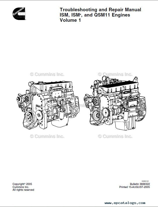 Cummins ISM & ISMe & QSM11 Engines Troubleshooting PDF