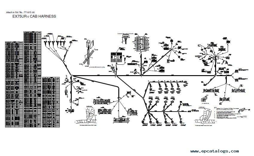 Hitachi EX75UR-5/75US-5 Excavator Set of PDF Manuals