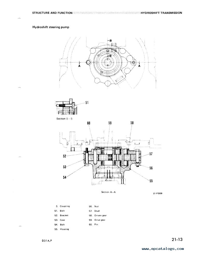 Komatsu Bulldozer D31A-16, D31P-16 Shop Manual Download