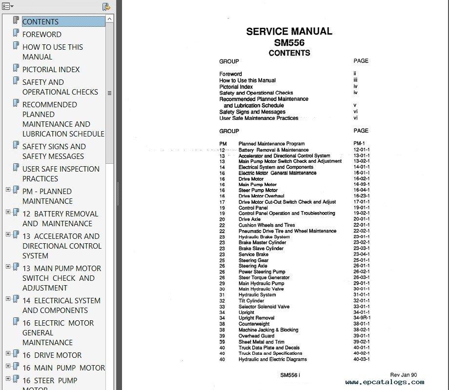 Clark ESM 12-25 SM-556 Service Manual PDF