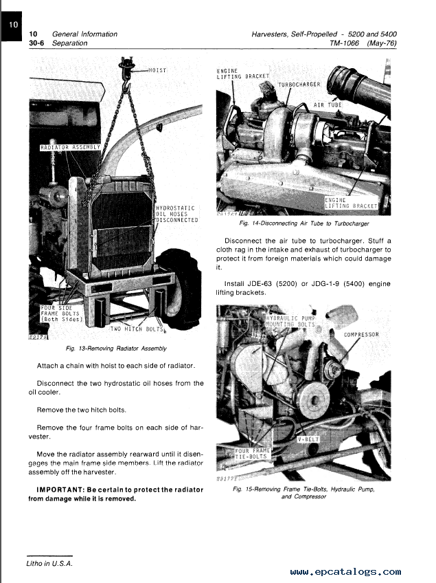 John Deere 5200 5400 Self-Propelled Forage Harvester PDF
