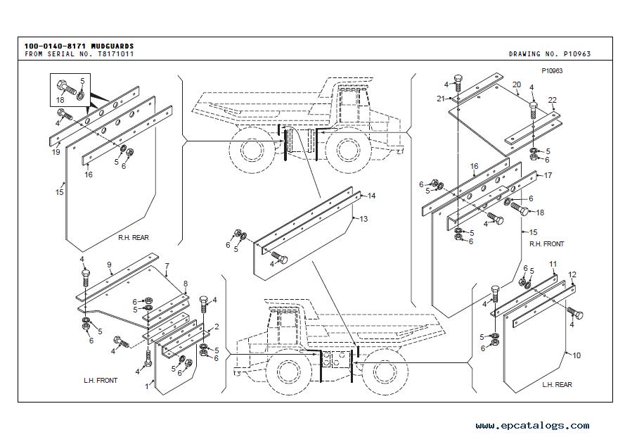 Terex TR45 Off-Highway Truck Parts Book PDF