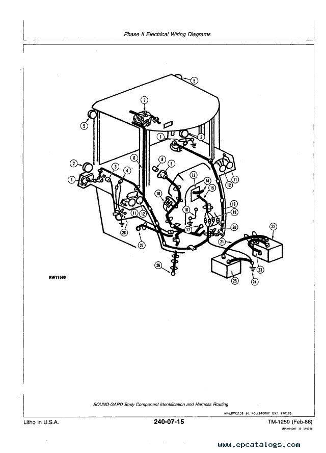 john deere 4850 wiring diagram