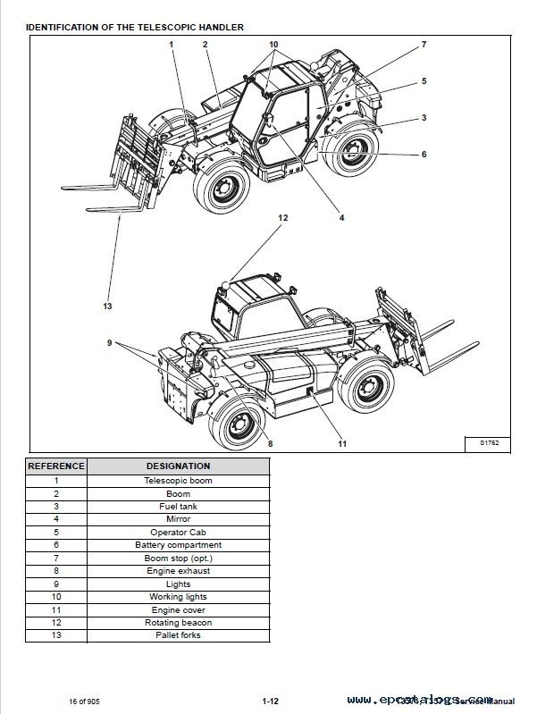 Bobcat T3571 T3571L Telescopic Handler Service Manual PDF