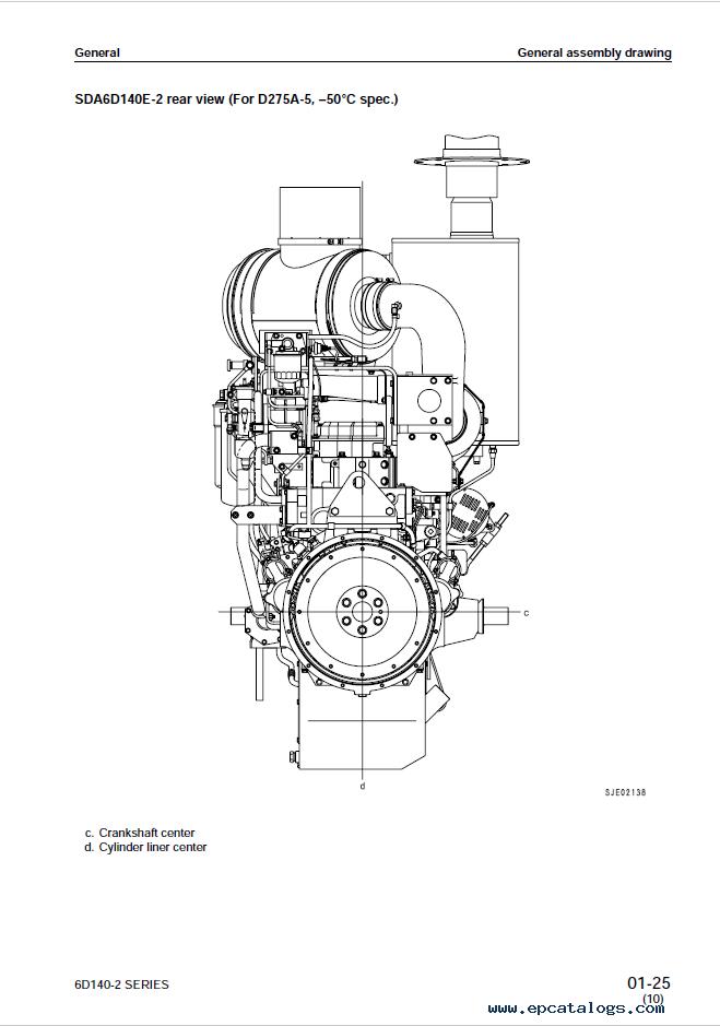 Komatsu Diesel Engine 6D140-2 Shop Manual Download
