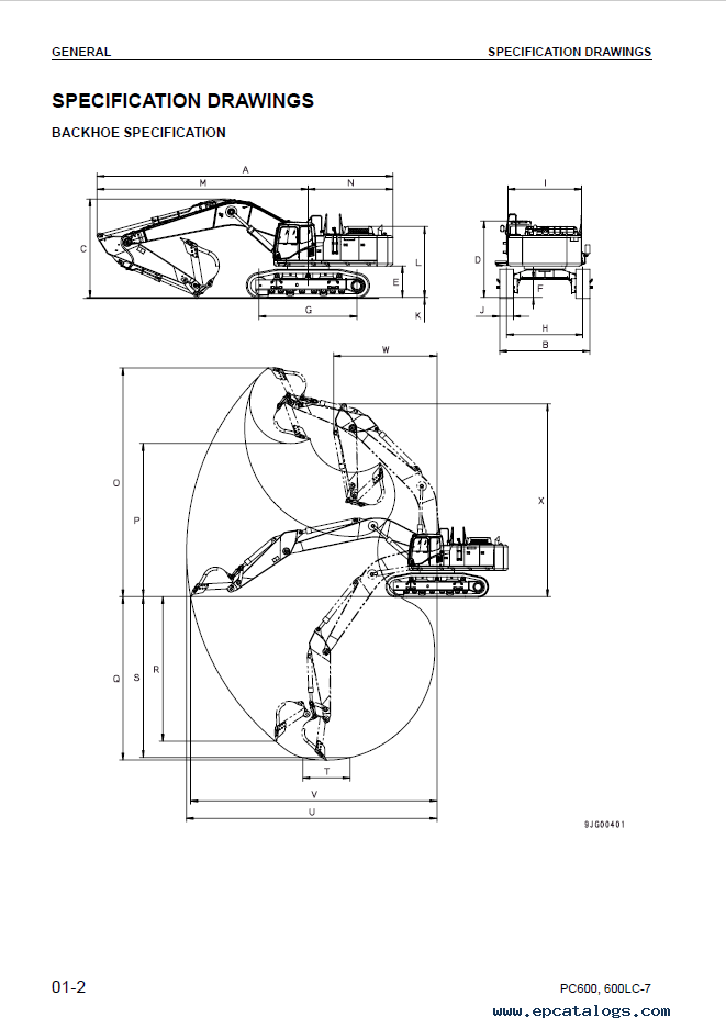 Komatsu Excavator PC600-7, PC600LC-7 Shop Manual
