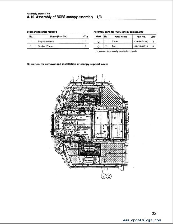 Komatsu Wheel Loader WA700-3 Field Assembly Instruction